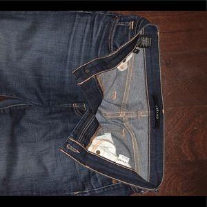 J Brand Womens Dark Skinny Jeans Mid Rise Sz 28